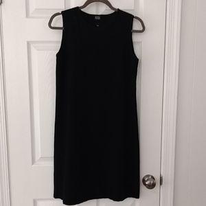 Eileen Fisher simple black dress